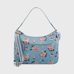 Cath Kidston Curve Shoulder Bag Grove Bunch Grey Blue