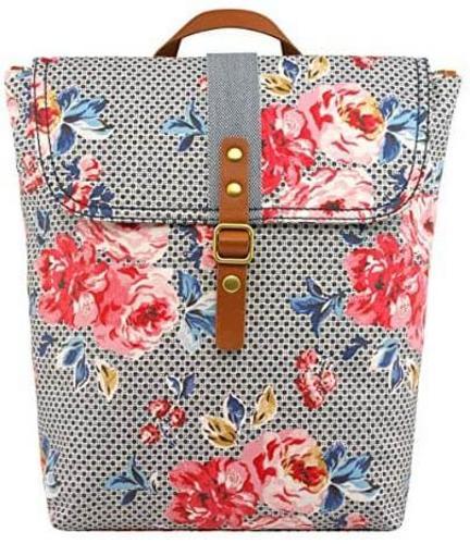 CATH KIDSTON Floral Ladies Zipped Top Backpack Rucksack - Geo Brampton Rose