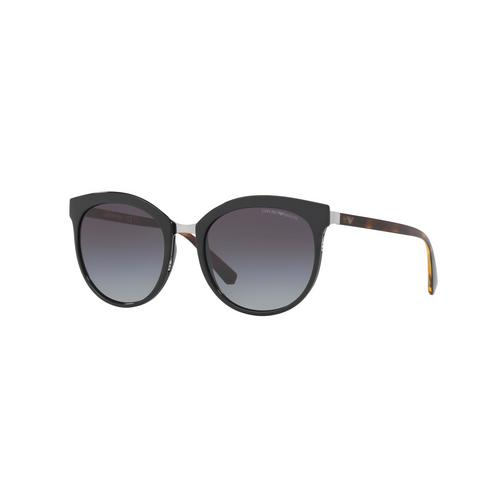 EMPORIO ARMANI Black Grey Gradient 55mm Female Sunglasses