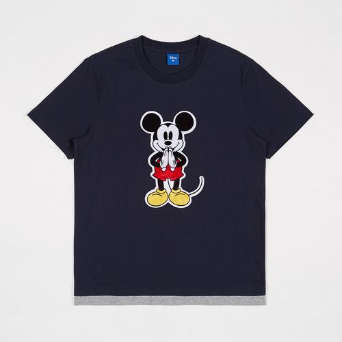 迪士尼 (Disney) 男士体恤衫Mickey-Sawasdee Dark 深蓝色 - L码