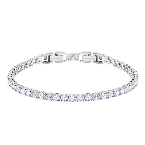 SWAROVSKI Tennis Deluxe Bracelet, White, Rhodium plated