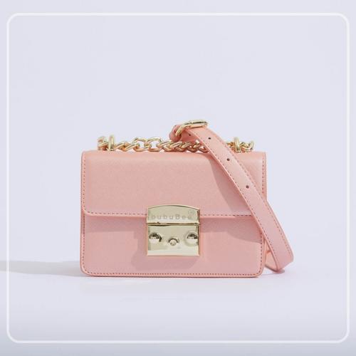 BUBUBEE BON BON BOX BAG (PEACH) W17 x H12 x D8.5 CMS
