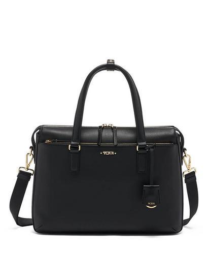 途明TUMI  Small Chandler Business Brief Leather Hand Bags - Black