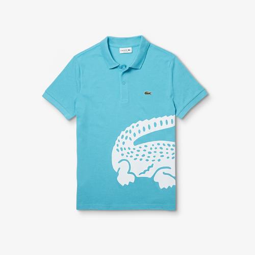 LACOSTE Men's Lacoste Regular fit Oversized Crocodile Print Polo Shirt - 3