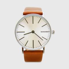 Lambretta Watch Cesare 42 Cognac Silver