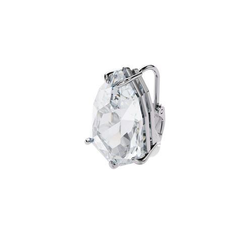 SWAROVSKI Mesmera clip earring Single, Trilliant cut crystal, White, Rhodium plated