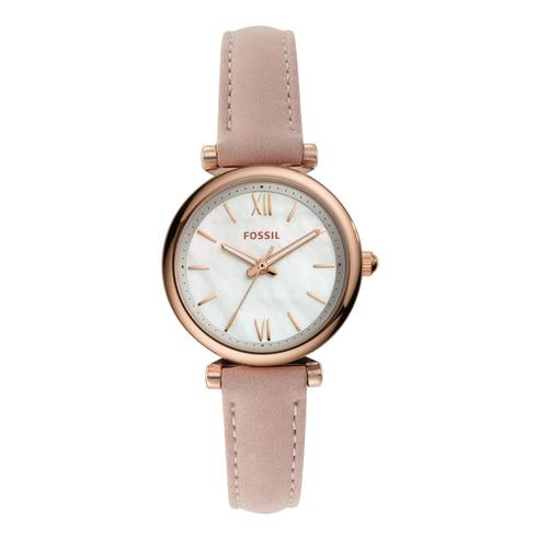FOSSIL Carlie Mini Analog Nude Leather Watch
