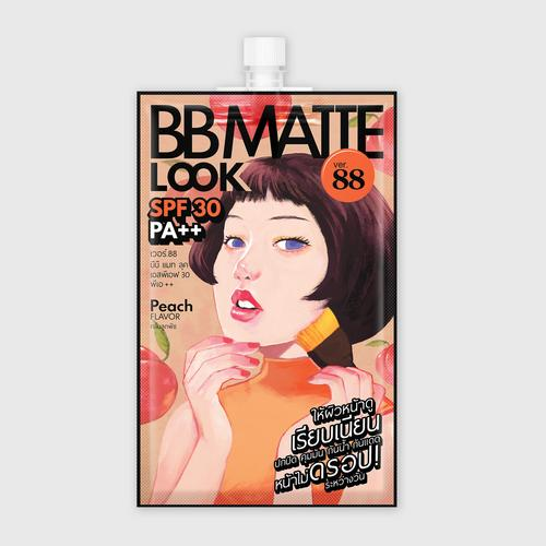 VER.88 BB Matt Look SPF 30 PA++ 5 ml.x6 Sachets