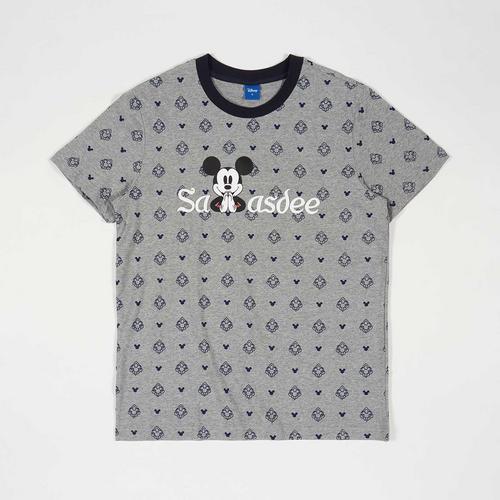 Disney Men T-Shirt Mickey-Sawasdee Grey-M