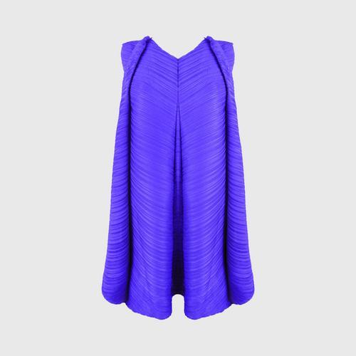 SHEENICHI PLEATS  diagonal front tie, freestyle pleats Ultramarine