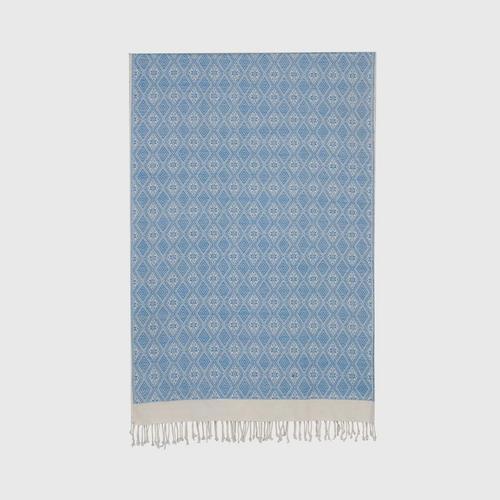 Suntree : Shawl, Light Blue and White