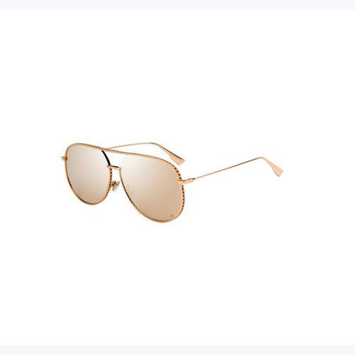 DIOR DIORBYDIOR Multilayer Gold Sunglasses
