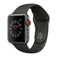 APPLE WATCH Series3 GPS+Cellular 38 mm Space Gray Aluminium Case with Gray  Sport Band
