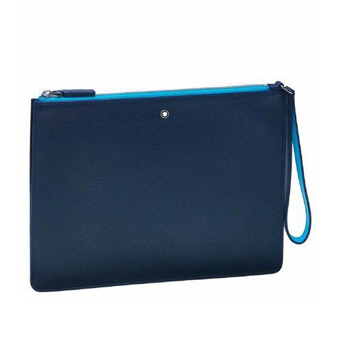 MONTBLANC Meisterstück Soft Grain My Office Pouch Medium - Blue/Blue