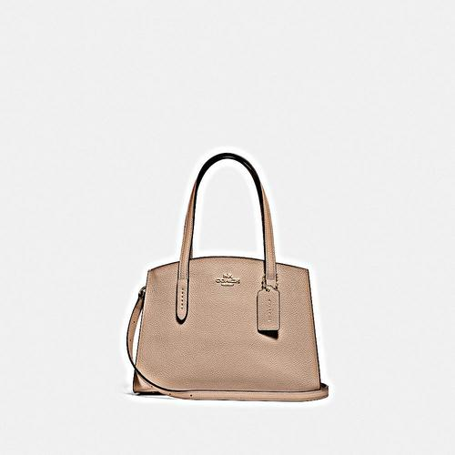 COACH Polished Pebble Leather Charlie 28 Carryall - LI/Beechwood