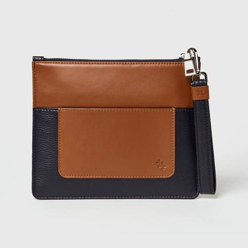 Longlai Two Tone Pouch Navy Colour