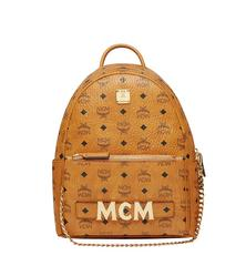 MCM BACKPACK SMALL COGNAC - COGNAC