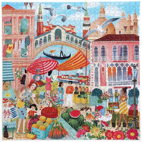 EEBOO - Venice Open Market 1000 Pc Sq Puzzle