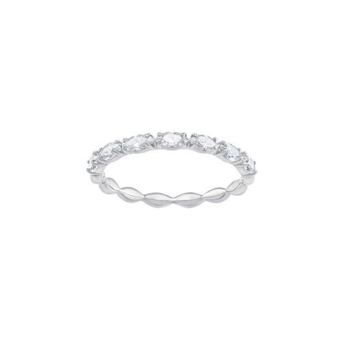 SWAROVSKI Vittore Marquise Ring, White, Rhodium plating-Size 52