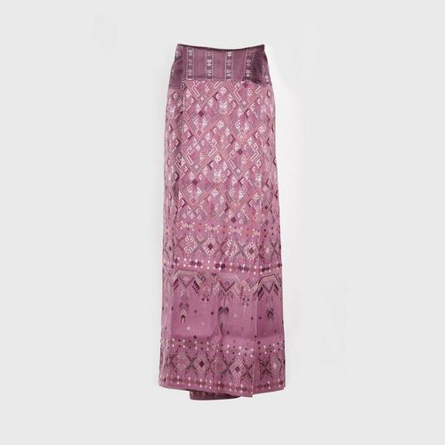 @PRAEWA PHA-SIN Thai Silk (Skirt well-known as Sarong) Orchid color