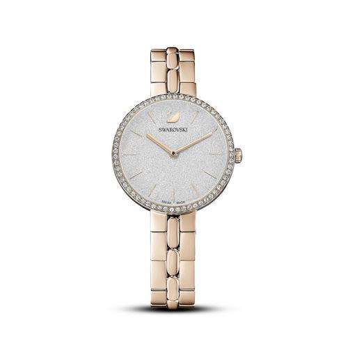SWAROVSKI Cosmopolitan Watch, Metal bracelet, Gold tone, Champagne-gold tone PVD