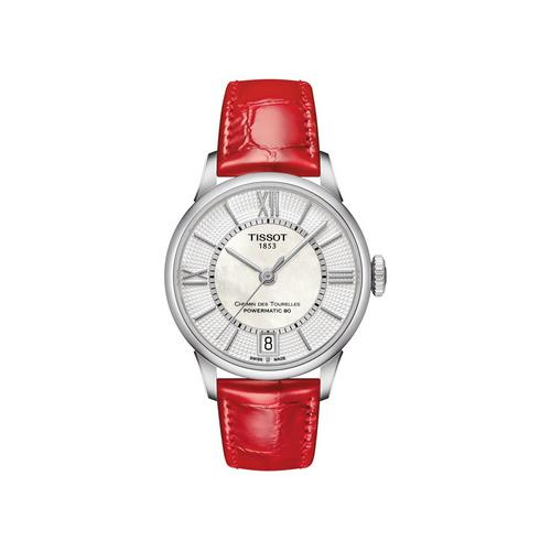 TISSOT Chemin Lady Steel Red 30mm (White Dial)