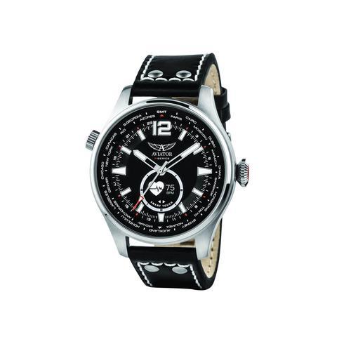 AVIATOR Gents Black Smart Watch 46Mm