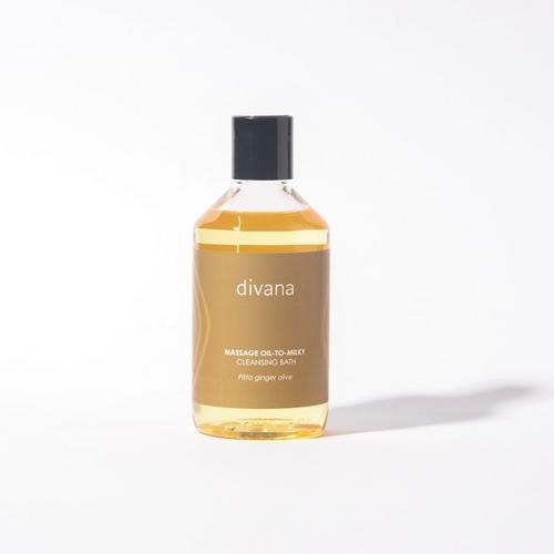 Divana Massage Oil To Milky Cleansing Bath Pitta Ginger Olive MoistureEmpire Scent 250 Ml.