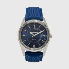 Lambretta Watch Marco 40 Rubber Silver Blue