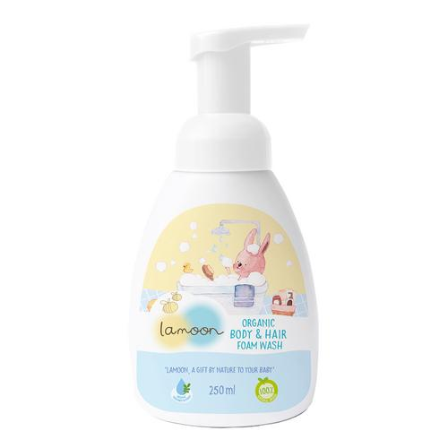 Lamoon Organic Body and Hair Foam Wash 250 ml.