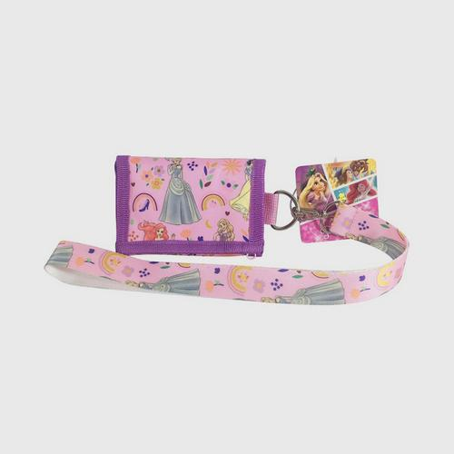 Disney Princess Wallet 3fold with Chain - Pink
