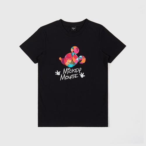 迪士尼 (Disney) 男装 米奇短袖圆领T恤 - XS码