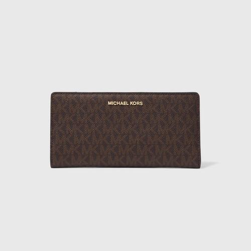 MICHAEL KORS MONEY PIECES LARGE PRESBYOPIA CARD HOLDER - BROWN/BLACK
