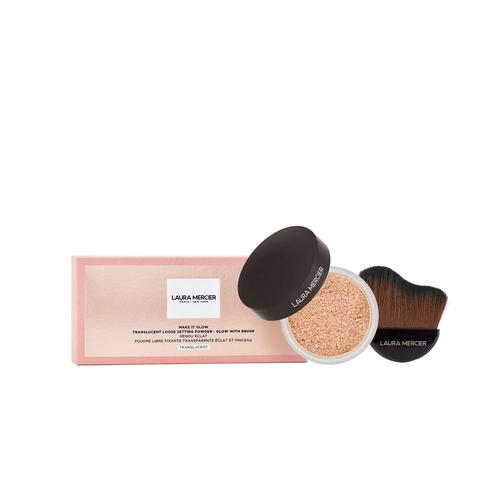 LAURA MERCIER Make It Glow Setting Powder & Brush Set