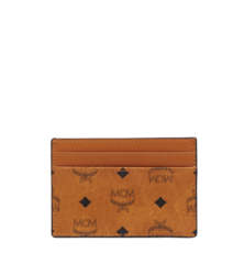 MCM VISETOS ORIGINAL CARD CASE - Cognac