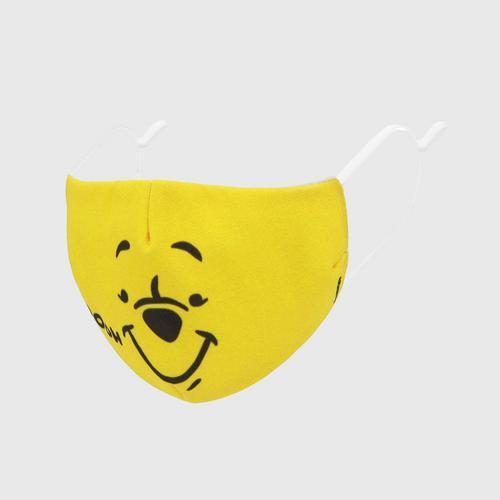 DISNEY Fabric Mask P IS POOH Yellow