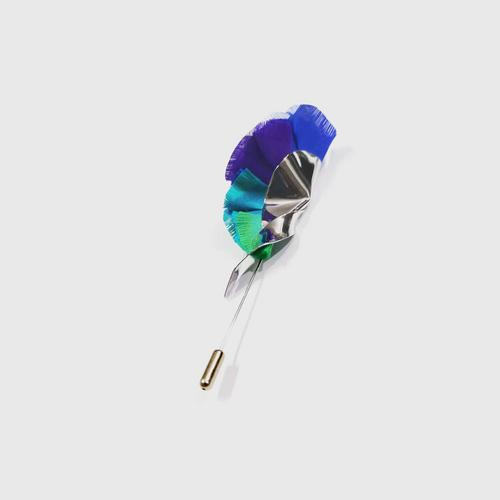 LA ORR Lapel Pin SN; Thaisilk + brass ; Rhodium plated