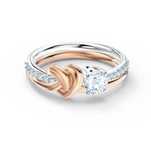 SWAROVSKI Lifelong Heart Ring, White, Mixed metal finish - Size 50