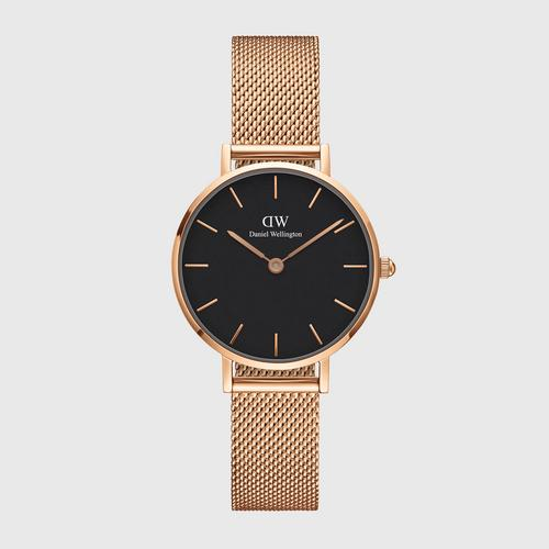 DANIEL WELLINGTON Petite Melrose Black Rose gold 28mm