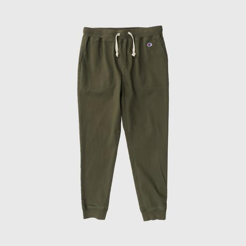 CHAMPION Men Campus Long Pants With Rib Cuff Olive Size S