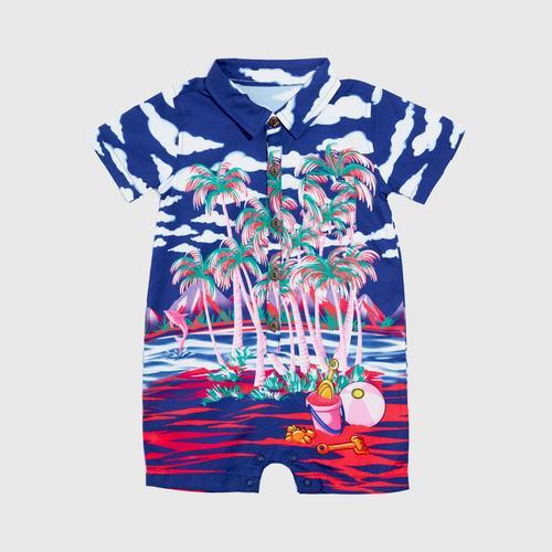 LOLLIPOP Baby Aloha Collection  Mini Palm Beach  Romper Size 0-3M