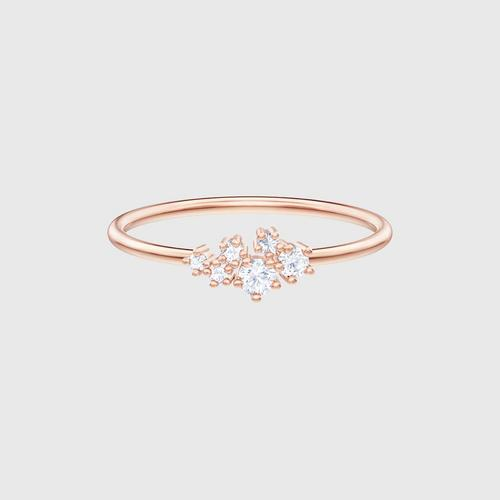 SWAROVSKI Penélope Cruz Moonsun Ring, White, Rose-gold tone plated -Size 55