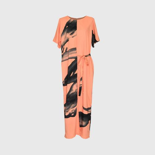 LAISEN skirt jumpsuit with back zip and side ties - Orange