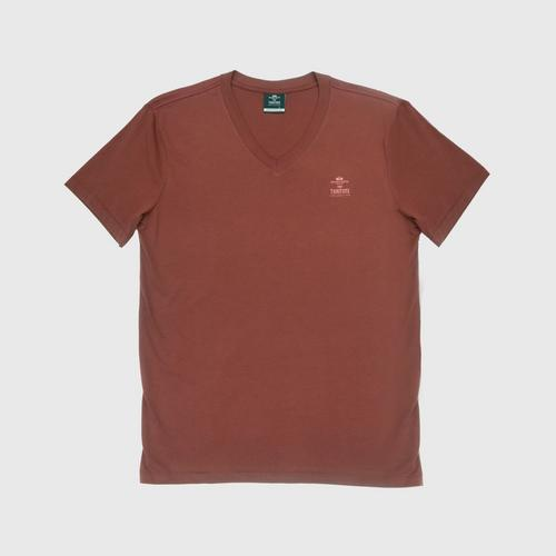 "Double Goose ""Thai Tone Collection"" V neck Solid T-Shirt - Fhad color Size S"