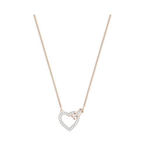 SWAROVSKI Lovely Necklace, White, Rose gold plating