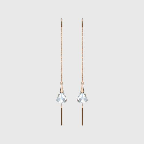 SWAROVSKI Spirit Pierced Earrings, White, Rose-gold tone plated