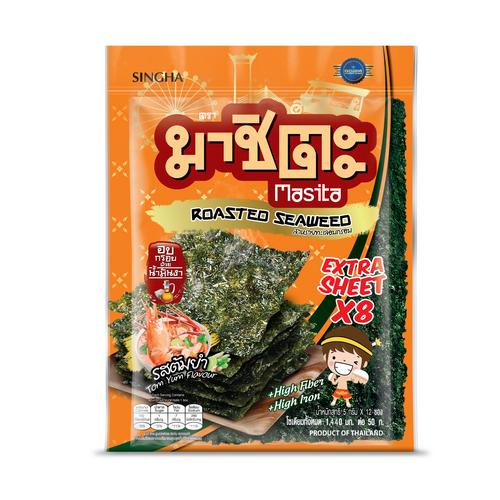 Masita Roasted Seaweed Extra Sheet 32 G Tom Yum Flavor