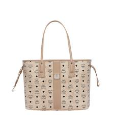 MCM REVERSIBLE SHOPPER MEDIUM BEIGE - BEIGE