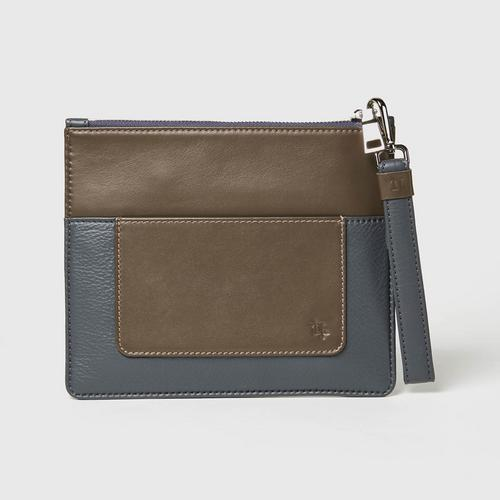 Longlai Two Tone Pouch Gray Colour