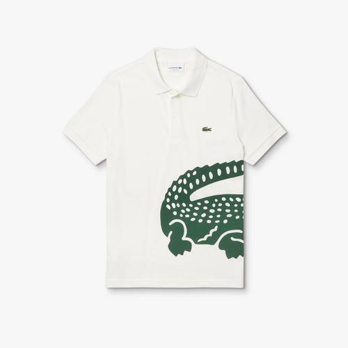 LACOSTE Men's Lacoste Regular fit Oversized Crocodile Print Polo Shirt - 4